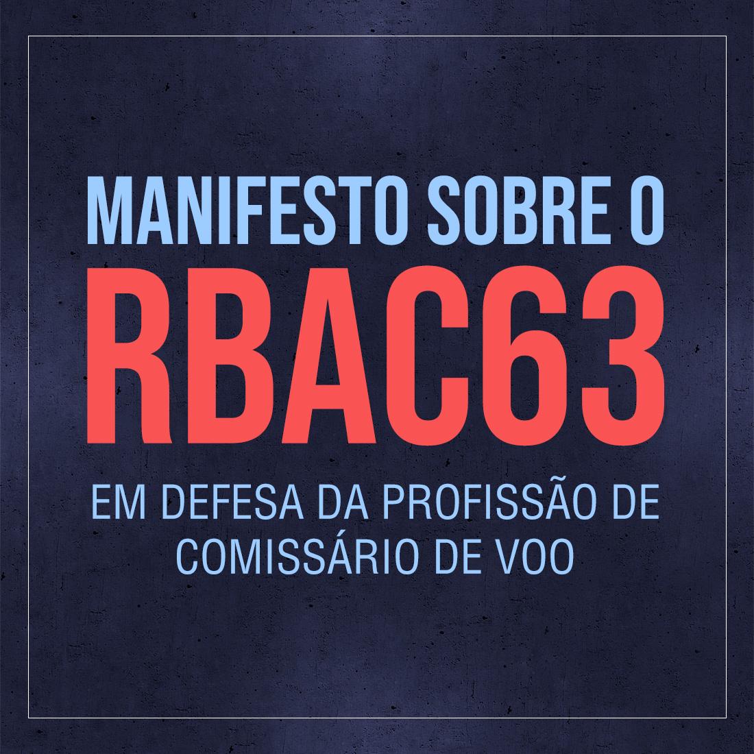 manifesto sobre o rbac63 em defesa da profissão de comissário de voo mobile